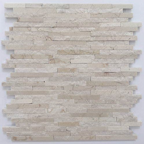 Crema Marfil marble stone tile in polished and textured rectangles