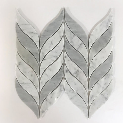 Bianco Carrara in a delicate feather pattern can be used to tile your walls and floors. seal your marble tile.