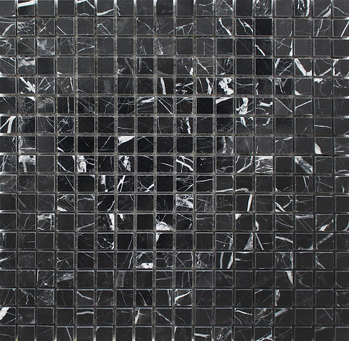Nero Marquinia Mosaics - a black marble with white veins