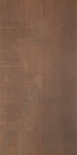 Bello Steel Concept porcelain tile has a copper look accentuating the metallic feel and enhancing the warmth