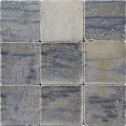 Azul Macaubas blue quartzite.  A rare beautiful sought after stone that will add prestige to your home.