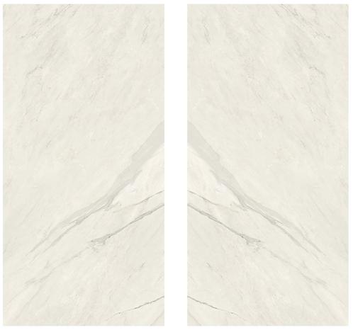 Slab Sahara White polished porcelain is soft, elegant and regal