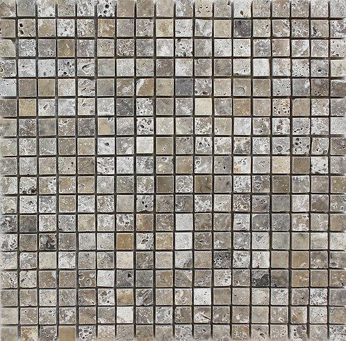 Travertine Olivillo polished mosaic tile