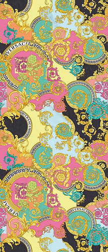 pinks, blues, golds, yellows, turquoise and black are versace signature colours are all captured on this porcelain s
