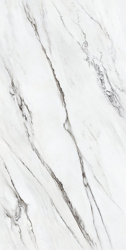 Inspired by the exclusive Panda White marble, MARBLE CLASSIC PLUS features an espresso veining against a white background