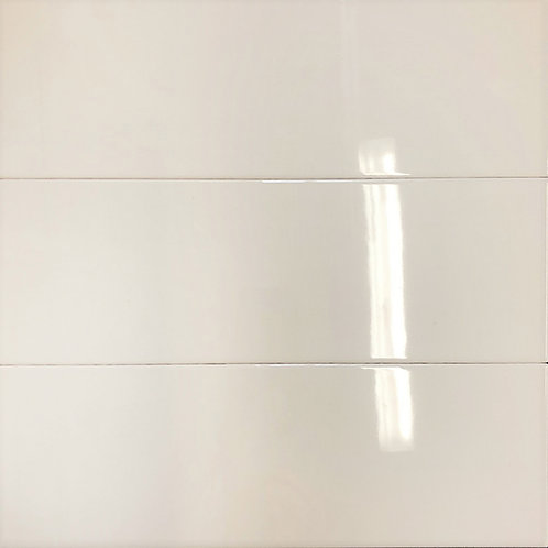 A soft creamy subway tile a little large in size but perfect for backsplash and wall installations