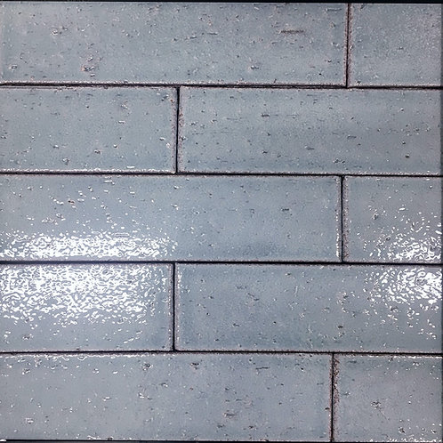 Crafted Brick Early Morning is a soft blue subway tile for wall applicatons in dry areas