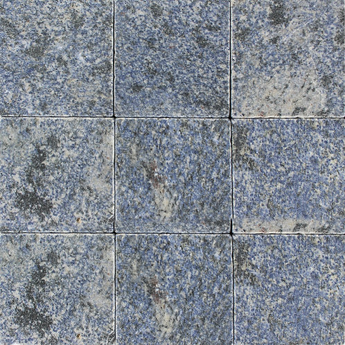 "Azul Bahia Blue granite stone tile in 4""x4"".  A rare blue granite that is suitable for residential & commercial application"