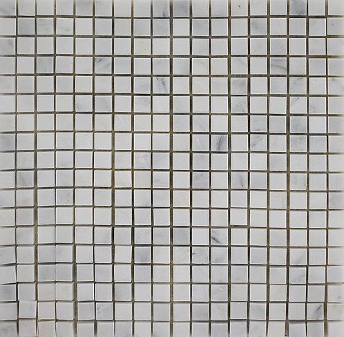 Sino Carrara15mmx15mm polished mosaic square foot sheet
