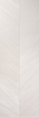 Featuring soft white tones and textural surface reminiscent of chevron wallpaper BELLO ARROW CRYSTAL MATTE is modern