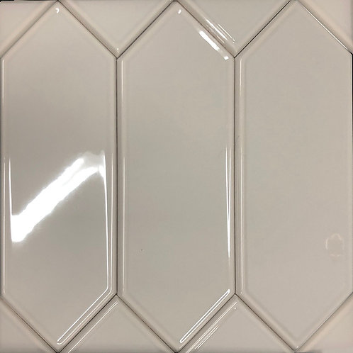 A picket ceramic tile in a gentle taupe colour not sold at Olympia tile or stone tile only at Cercan Tile