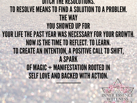 Ditch the resolutions and cultivate self-love