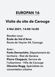 E16 - Carouge (GE) > Visite du site