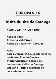 E16 - Carouge (GE) > Visite du site