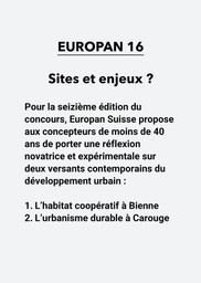 E16 - Sites et enjeux