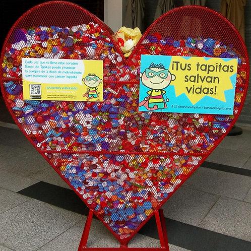 Corazón de Herrería oficial de Banco de Tapitas