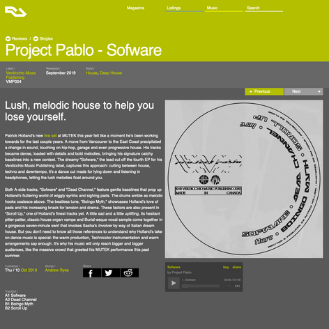 Resident_Advisor Reviews Project Pablo Sofware EP