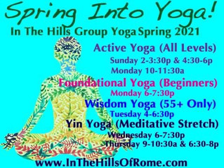 Spring 2021 Group Yoga Schedule