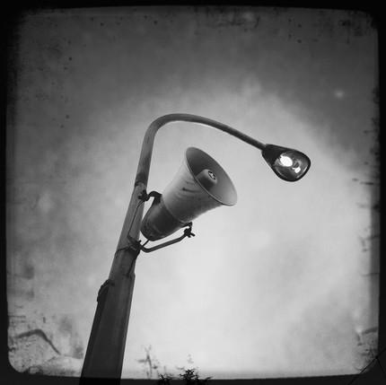 Bastien Pons street light lampadaire haut-parleur dark sky