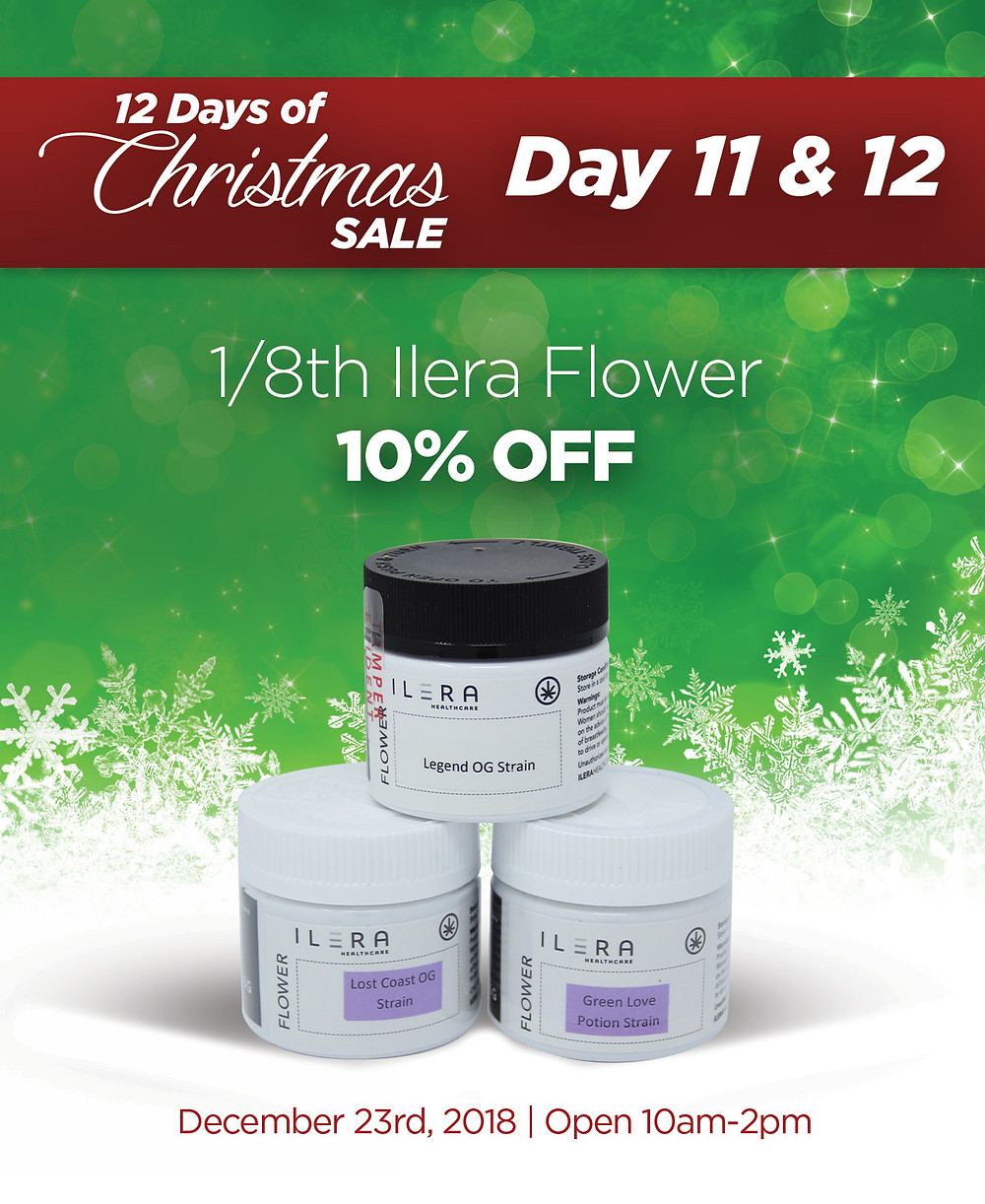 all Ilera flower 1/8ths are 10% OFF