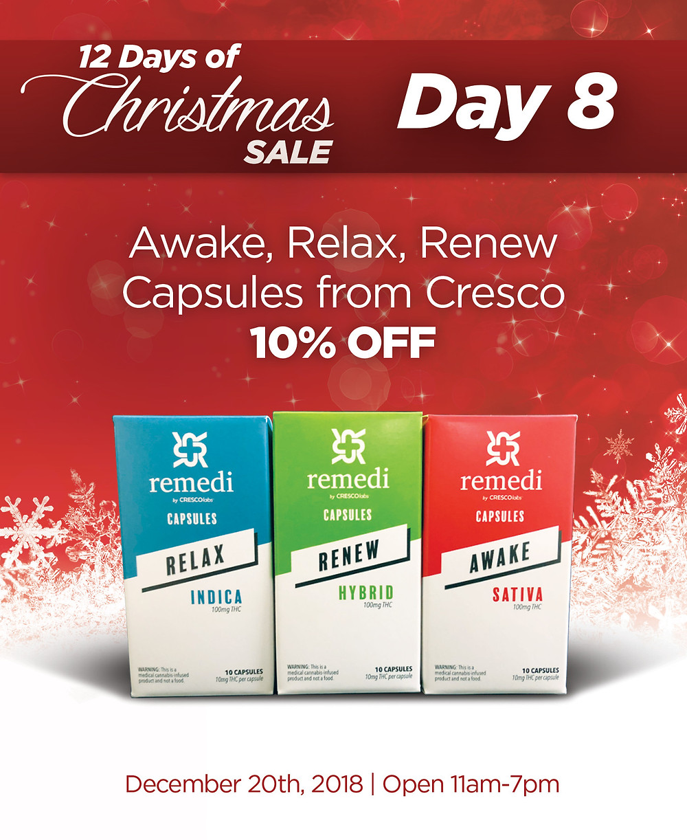 Awake, Relax, and Renew Capsules from Cresco are 10% OFF!