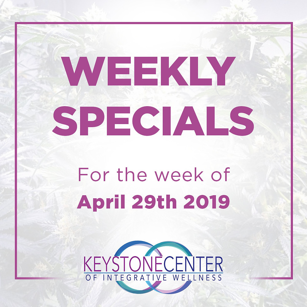 Weekly Specials for the week of April 29th 2019