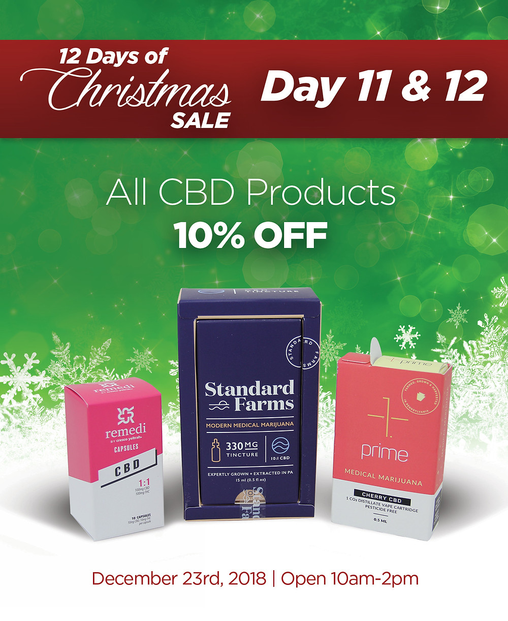 All CBD product are 10% OFF