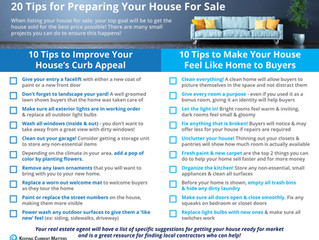 20 Tips for Preparing Your House For Sale