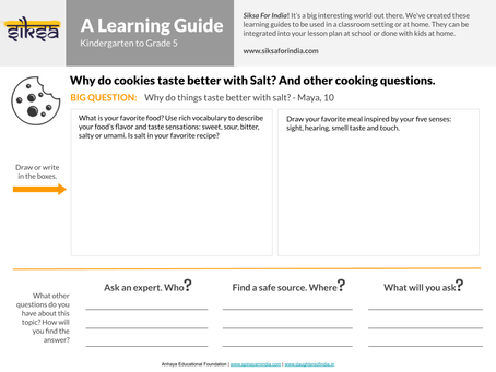 """""""SaY"""" it with Research: Why do things taste better with salt?"""