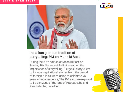 """SaY"": 'Indians are Natural Storytellers' ~ Shri Narendra Modi Ji"