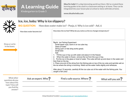 """""""SaY"""" it with Research:  Ice, Ice, baby: Why is ice slippery?"""