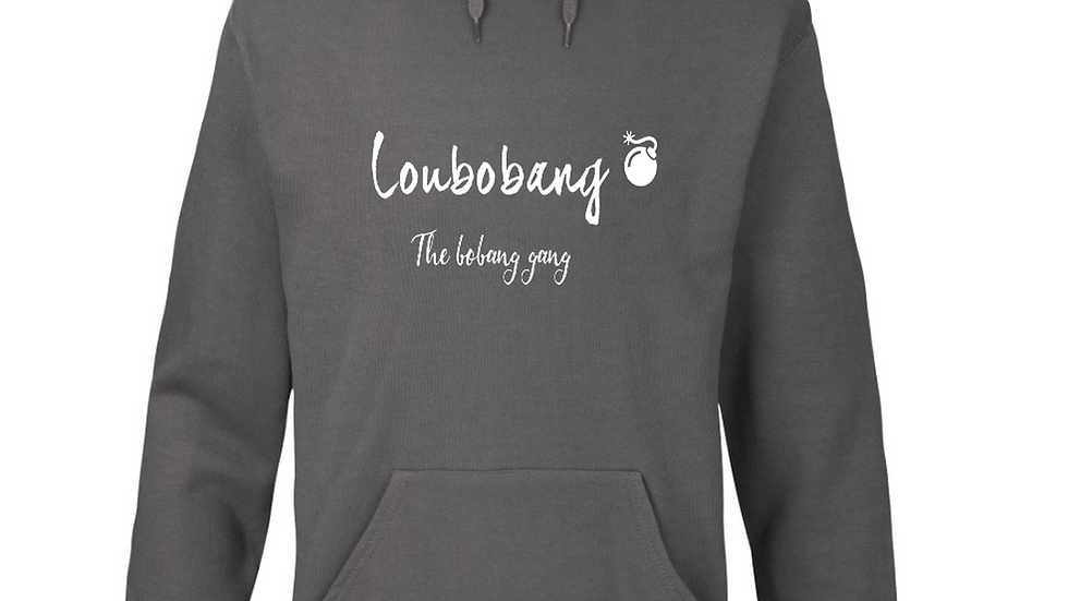 Official Loubobang Embroidered Men's Hoodie - Grey, Navy or Black