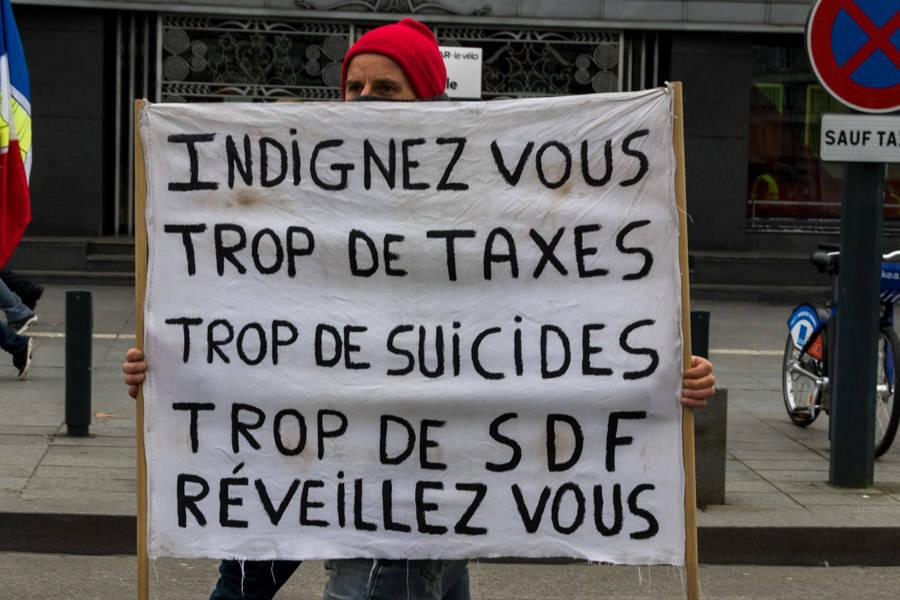 Acte 7 des gilets jaunes à Rennes  Maud DUPUY  Rennes, 29 décembre 2018.  © tous droits réservés.