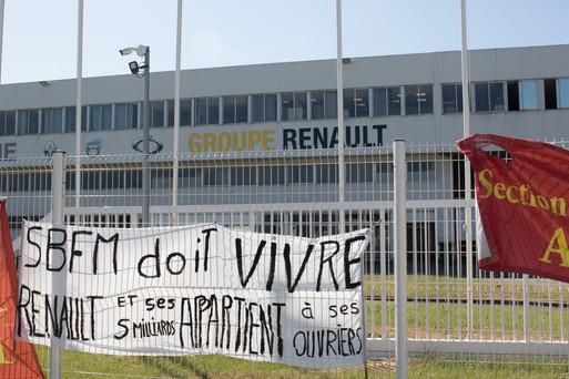 Renault, contre la fermeture de la fonderie de Bretagne