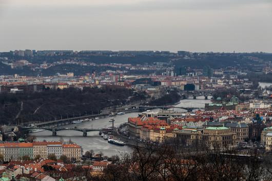 Prague - vue sur la rivière Vltava.
