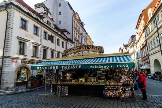 Prague - marché Havelské tržiště
