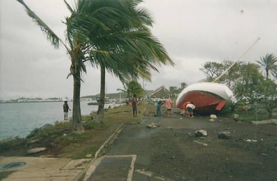 Après le cyclone Erika en 2003