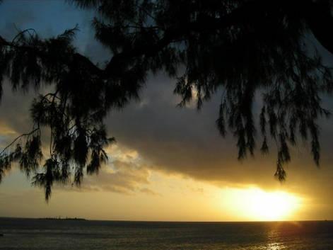 Couché de soleil sur l'Anse Vata