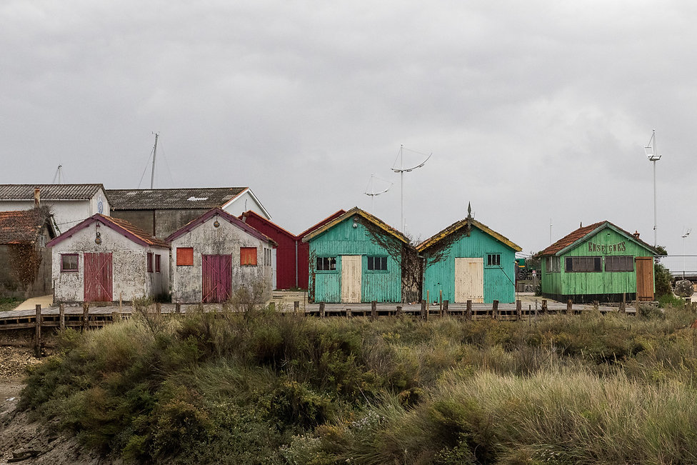 Tirages photographiques - Sud-Ouest - Cabanes de pecheurs colorees - Maud Dupuy