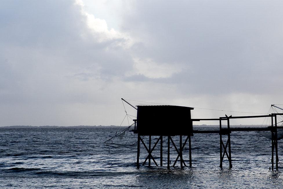 Tirage photographique - sud ouest - contre jour - cabane de pecheur sur pilotis - paysages - Maud Dupuy