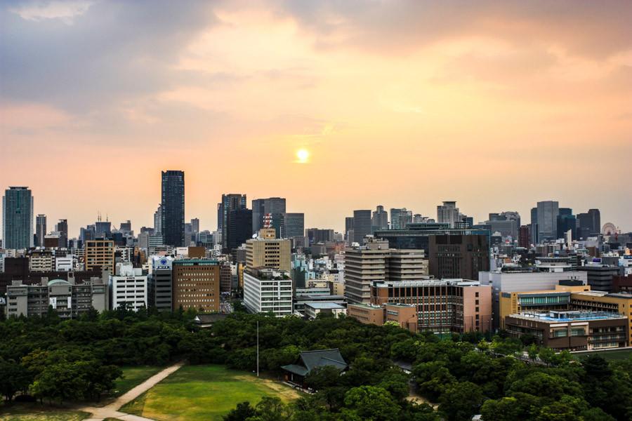 Vue sur Osaka.