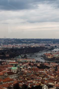 Prague - vue sur la ville et le fleuve Vltava