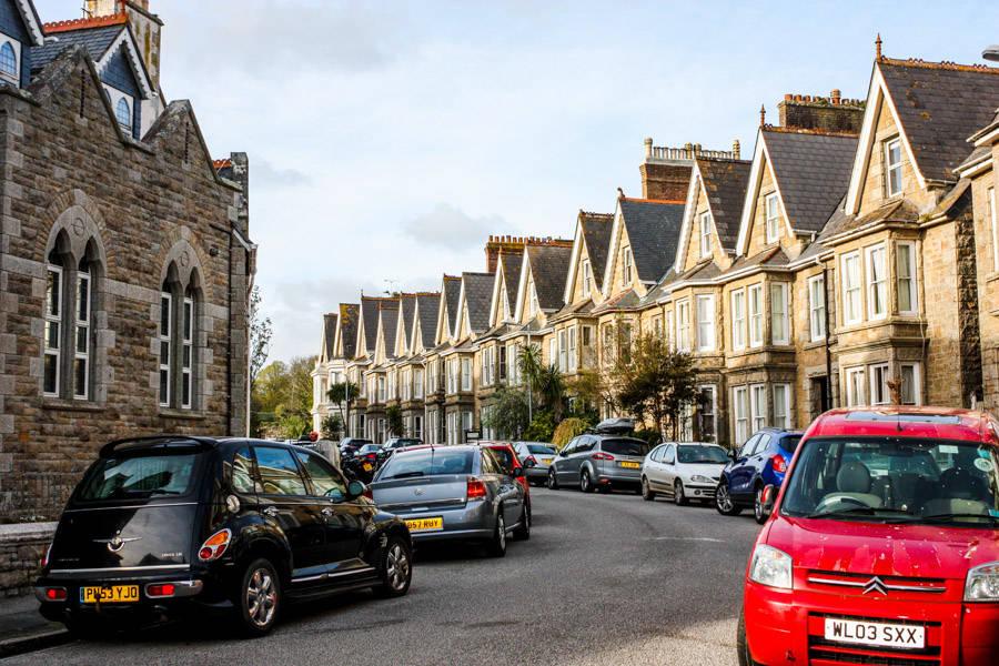 Les rues typiques d'Angleterre. Penzance.