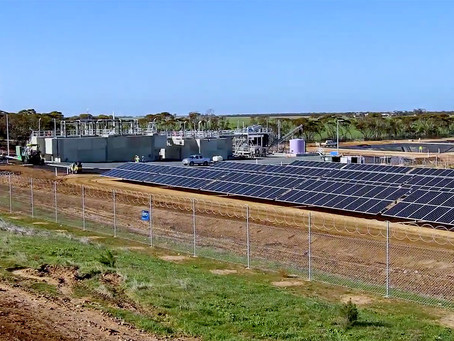 Sustainability Record for SA Water Treatment Plant