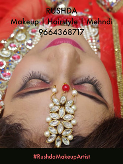 indian muslim bride, bridal makeup artis