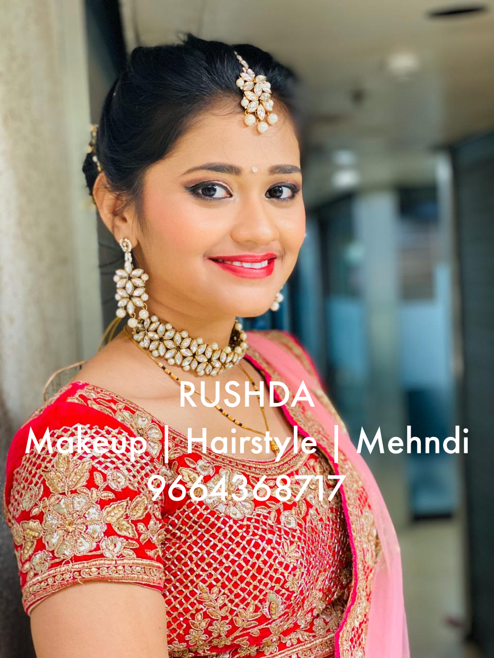 INDIAN GURAJATI BRIDE AND BRIDAL MAKEUP
