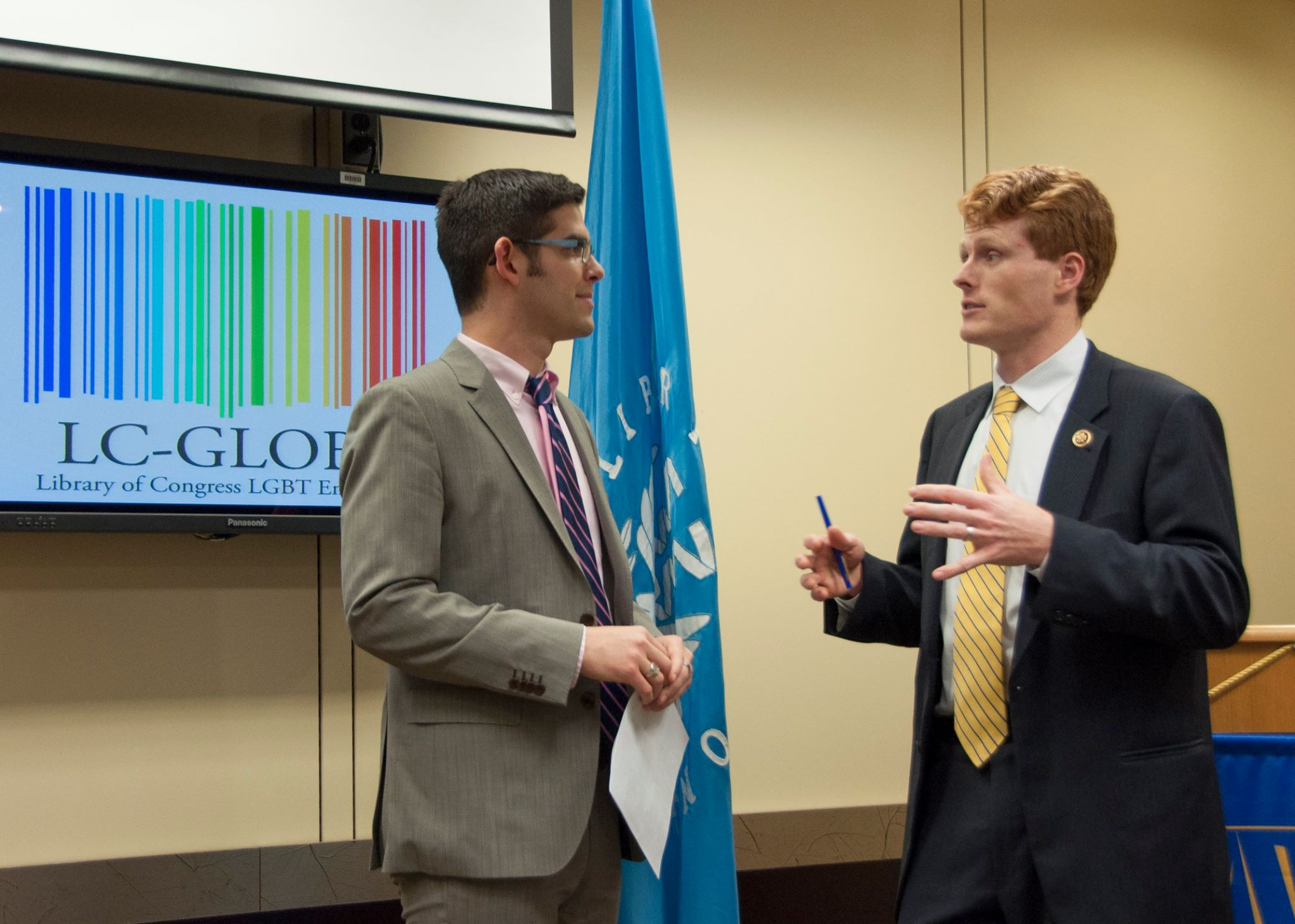 Nicholas with Rep. Joe Kennedy III