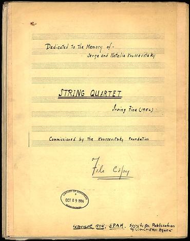 Irving Fine String Quartet