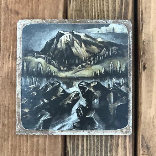 Deschutes Obsidian Coaster