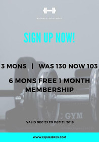December Gym Offer